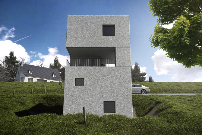 mountain cabin by architectes tristan gruet designing modeling rendering. Black Bedroom Furniture Sets. Home Design Ideas