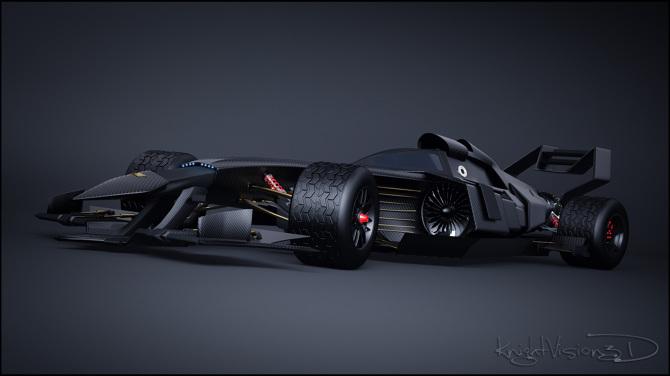 Batman F1 Concept Knightvision3d